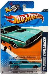 2012 Hot Wheels Muscle Mania Mopar 82 71 Dodge Challenger