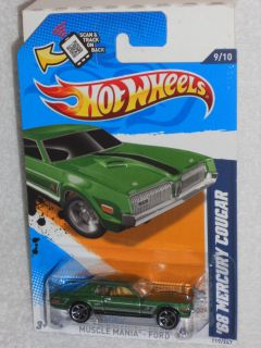 Hot Wheels Muscle Mania Ford 12 9 10 68 Mercury Cougar Kmart Hunter
