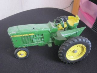 Vintage John Deere Toy Tractor with Diecast Wheels