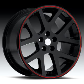 22 Black Viper SRT8 Wheels Tires Fit Dodge Charger Magnum 300C