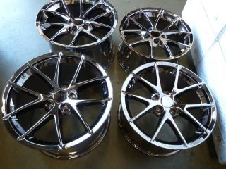 19x12 CORVETTE SPYDER BLACK CHROME WHEELS RIMS SET ZO6 Z06 GRAND SPORT