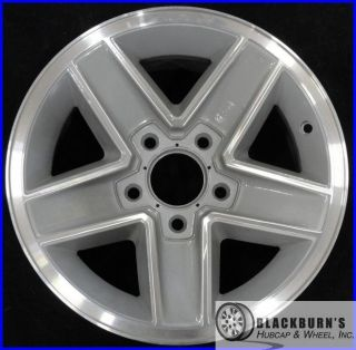 87 88 89 90 91 92 Chevy Camaro RS 15 Machined Silver Wheel Used Rim