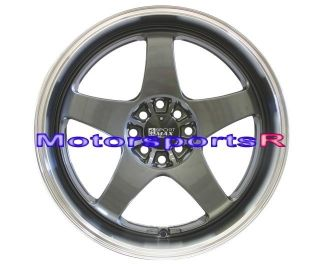 Gun Metal Rims Staggered wheels Deep Dish Lip 89 94 Nissan 240sx S13
