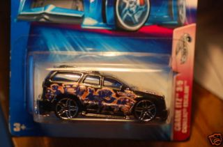 2004 Hot Wheels Cadillac Escalade Blue 145 Crank Itz