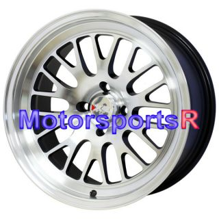 Machine Black Wheels Rims Deep Dish 4x114 3 96 Honda Prelude SI