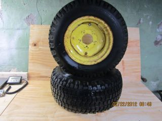 1972 John Deere 112 Rear 12x8 1 2 Wheels and 23x10 50x12 Tires