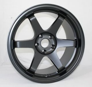 18x8 5 5x114 3 35 Matt Black Wheels Fit RSX TSX Civic SI RX8