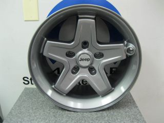 Wrangler Classic 5 Spoke Alloy Wheels Wheel Mopar Gray 5 PC