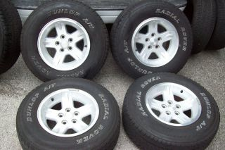 04 06 Jeep 95 06 Wrangler Factory 15 Wheels Rims Tires Grand Cherokee