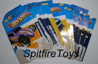 HOT WHEELS LOT OF 20 CARD BACKS FOR TOYS R US MAIL AWAY DAIRY DELIVERY