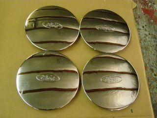 Ford Racing Chrome Wheel Center Caps M 1096 FRT