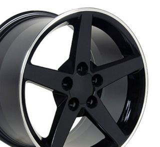 18 Black Corvette C6 Style Wheel Machined Lip Rim Fits Camaro SS