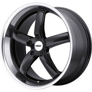 New 17x8 5x114 3 TSW TSW Stowe Black Wheels Rims