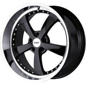New 17x8 5x120 TSW Strip Black Wheels Rims