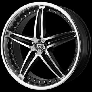 RACING MR107 107 BLACK WHEELS RIMS 5 LUG 5X4 5 5X110 5X112 5X100