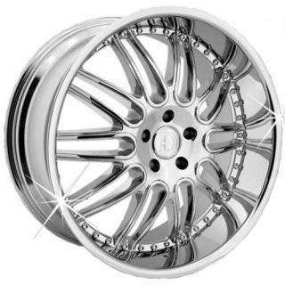 22 inch Menzari Z10 Staggered Chrome Wheels Rims 5x120 BMW