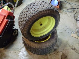 Deere L120 L130 Lawn Tractor Rear Tires Wheels 22 x 9 50 12