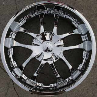 Strada A Arm 132 22 Chrome Rims Wheels Jeep Grand Cherokee 22 x 8 5