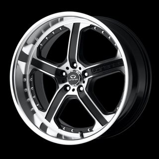 22 Black Polish Wheels Tire 5x115 Chrysler 300 Charger Magnum