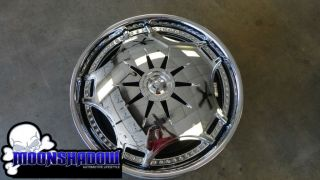 24 DUB GANJA S788 SPINNER WHEELS RIMS 5x115 5x120 DODGE CHARGER MAGNUM