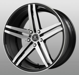 19 inch Parallax Black Wheels Rims Staggered 5x120 BMW 5 6 7 Series