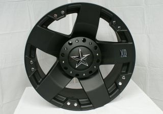 18 XD Rockstar Black Wheels Rims 5x135 w 355 65 18 Nitto Terra