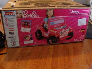 Brand New Fisher Price Power Wheels Ride on Barbie Jeep 6 Volt