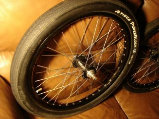 20 inch Chris King Wheel Set BMX Race Wheels TI Spokes