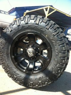 17 Black Rims and Tires 8x165 Chevy GMC Dodge Hummer 285 70 17 Nitto