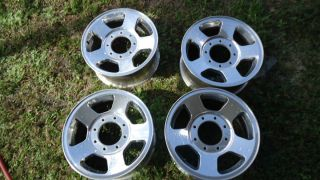 1500 2500 3500 TRUCK 17X8 FACTORY OEM 8 LUG POLISHED ALLOY WHEELS RIMS