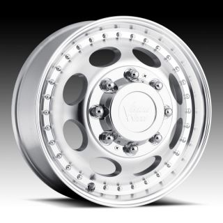 VISION HEAVY HAULER 8X170 MACHINED FORD F 250 F 350 DUALLY WHEELS RIMS