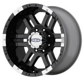 20 inch 951 MO951 Black Offroad Ford GMC Truck Wheels Rims Set