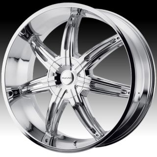 24 inch KMC Surge Chrome Wheels Rims 6x135 Ford F150 Expedition