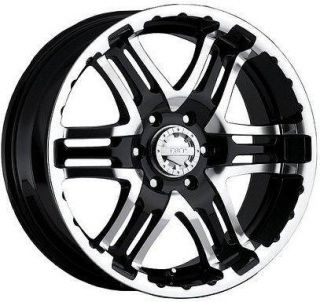 ALLOY DOUBLE PUMP BLACK WITH 265 75 16 FEDERAL COURAGIA MT WHEELS RIMS