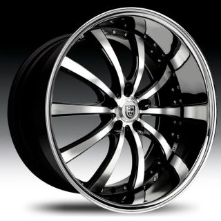 22 Lexani LSS 10 Wheel Set LSS10 Rims 22inch Machined Staggered 5 Lug