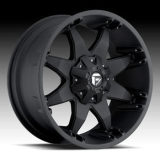 20x9 MHT Fuel Octane 8x170 Et 24 Matte Black Wheels 4 New Rims