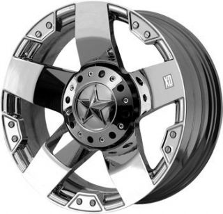 22 inch KMC XD Rockstar Chrome Wheels Ford F150 6x135