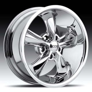 17x8 17x9 Legend Chrome Hot Rod Classic Wheel Set 17inch Rims