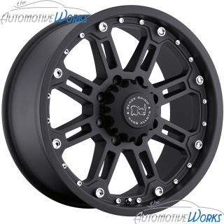Rockwell 8x165 1 8x6 5 12mm Matte Black Rims Wheels inch 18