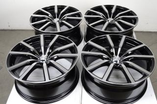 18 5x114 3 BlacK Rims Altima Accord Camry Sebring TL Mazda 3 6 RSX 5