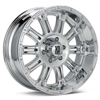 22 inch KMC XD Hoss Chrome Wheels 8x170 Ford F250 F350
