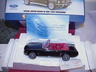 Franklin Mint FORD 1964 1 2 Mustang Convertible Limited Edition 0074