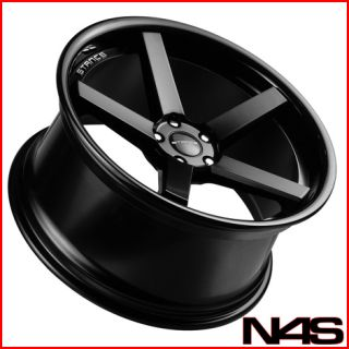 W204 C63 Stance SC 5IVE Black Concave Staggered Wheels Rims