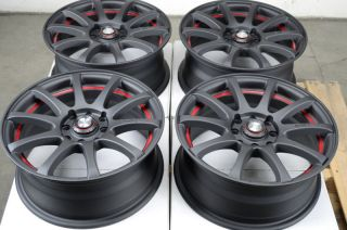 Black Red Effect Wheels Optima Lancer Accord Escort galant Rims