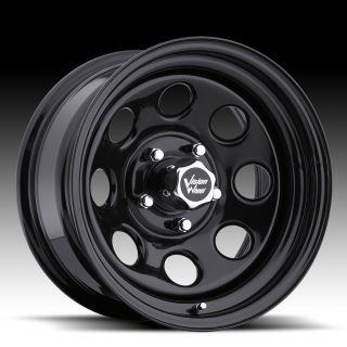 12 Vision Soft 8 Black Steel Wheels Rims 5x5 5x127 Set of 4