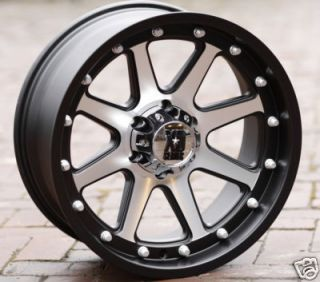 17 inch Black wheels rims KMC XD 798 Addict CHEVY GMC 1500 trucks 6
