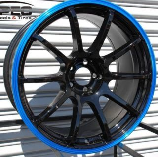 Rota G Force 18x9 5x100 ET35 Black Blue 73 1 Wheel