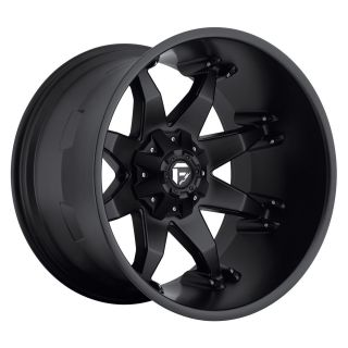 22x14 Octane Black 22 Fuel Deep Lip Series Matte Black Rims
