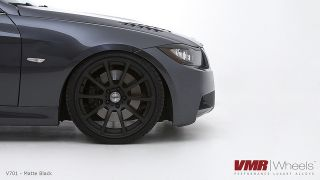 19 VMR V701 Matte Black Wheels Rims Fit BMW 325i 328i 330i 335i 2006