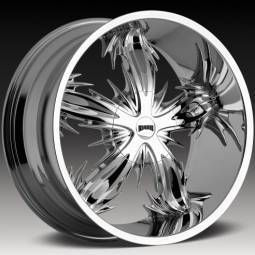 Dub Spine 22x10 Chrome 6x5 5 One Single Replacement Rim Wheel